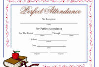 Perfect Attendance Certificate Template Download Printable inside Best Vbs Attendance Certificate Template