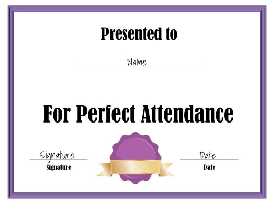 Perfect Attendance Certificate Template Download Printable intended for Best Vbs Attendance Certificate Template