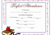Perfect Attendance Certificate Template Download Printable throughout Printable Perfect Attendance Certificate Template