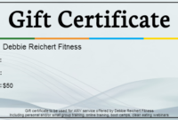 Personal  Small Group Training Lewis Center  Debbie intended for Physical Fitness Certificate Template 7 Ideas