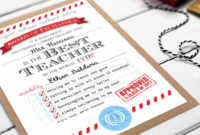 Personalised 'Best Teacher' Certificateeskimo Kiss with regard to Quality Best Teacher Certificate