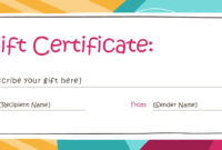 Personalized Gift Certificate Template  Dalepmidnightpig with Best Company Gift Certificate Template