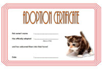 Pet Adoption Certificate Editable Templates pertaining to Printable Service Dog Certificate Template Free 7 Designs
