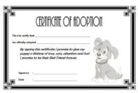 Pet Adoption Certificate Editable Templates throughout Free Cat Adoption Certificate Templates