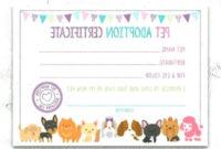 Pet Adoption Certificate Pet Adoption Birthday Party inside Unicorn Adoption Certificate Free Printable 7 Ideas