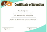 Pet Adoption Certificate Template 10 Creative And Fun in Pet Adoption Certificate Editable Templates
