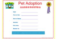 Pet Adoption Certificate Template  Douglasbaseball regarding Child Adoption Certificate Template