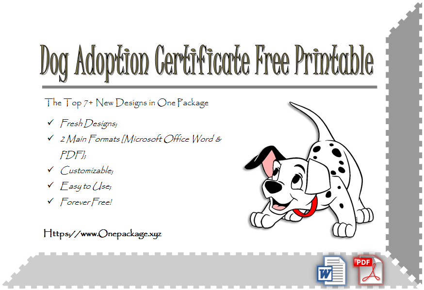 Pet Adoption Certificate Template Free 23 Fresh Designs with regard to Awesome Unicorn Adoption Certificate Templates