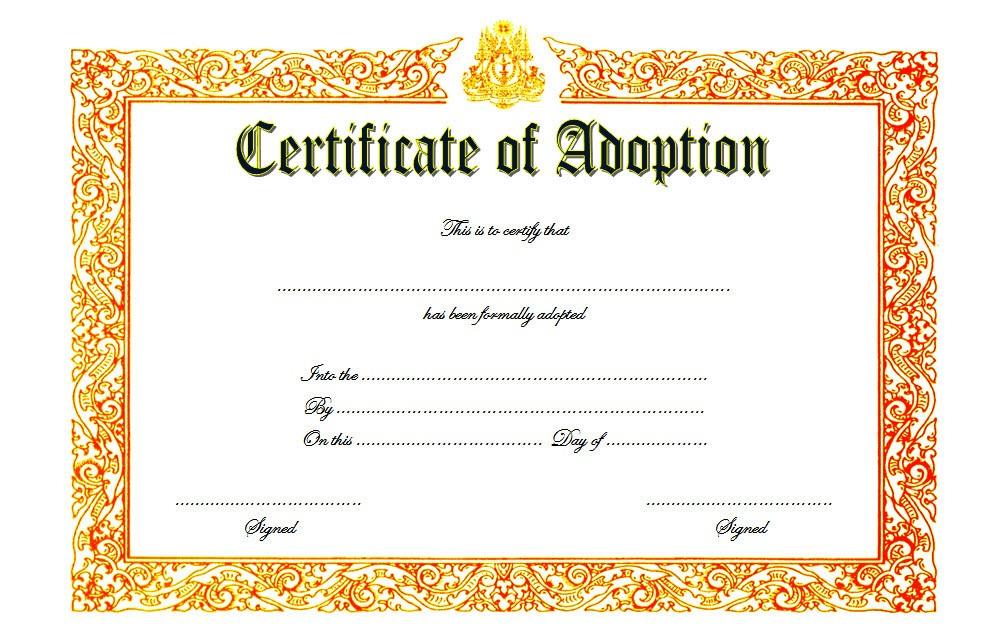 Pet Birth Certificate Template Free 7 Editable Designs with Certificate Of Kindness Template Editable Free