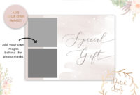 Photography Gift Certificate Card  Adobe Photoshop Psd pertaining to Free Photoshoot Gift Certificate Template
