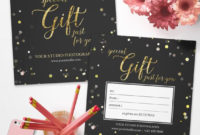 Photography Gift Certificate Template For Photographer pertaining to Custom Gift Certificate Template