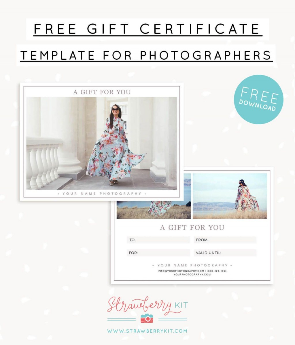 Photography Gift Certificate Template Free  Addictionary with regard to Printable Photography Gift Certificate Template