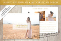 Photography Gift Certificate Template  Photo Gift Card for Free Photography Gift Certificate Template