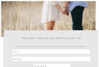 Photography Gift Certificate Template Psd Certificate throughout Best Photography Gift Certificate