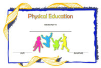 Physical Education Certificate Template Editable 8 Free inside Music Certificate Template For Word Free 12 Ideas