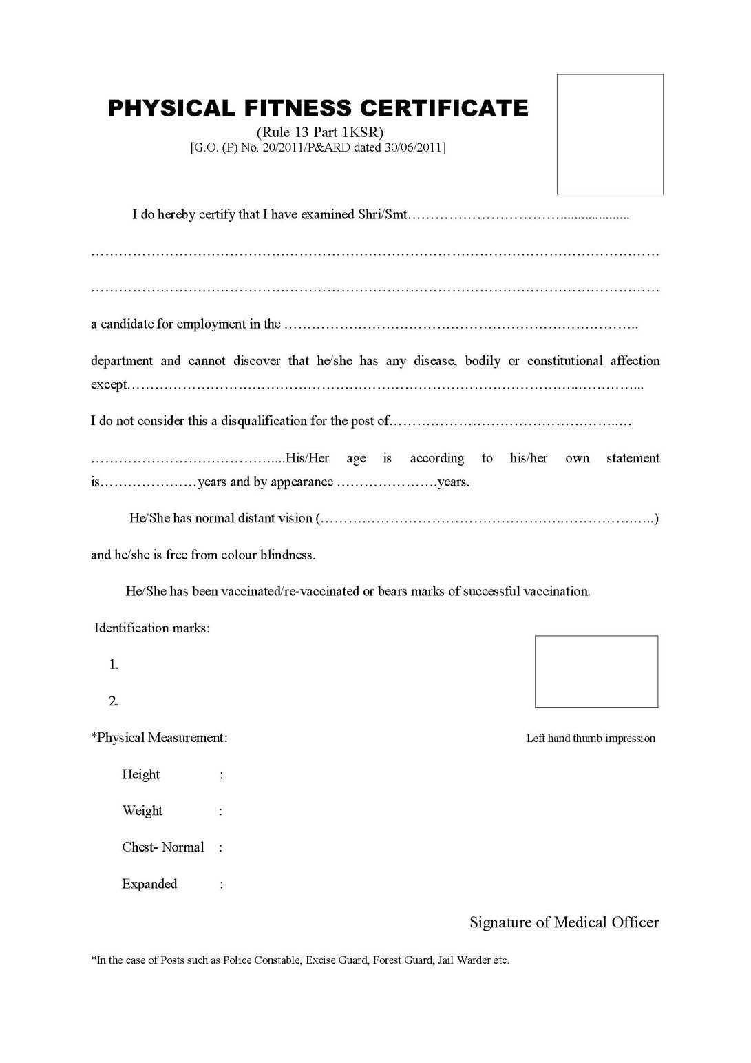 Physical Fitness Certificate Format Pdf  Kayafitnessco regarding Physical Fitness Certificate Templates