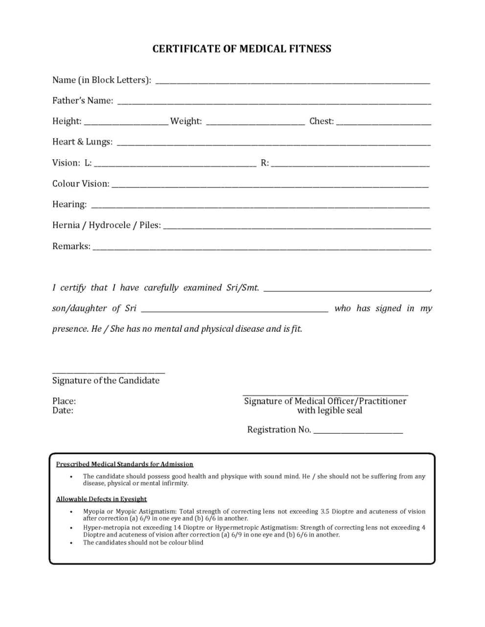 Physical Fitness Certificate Format Pdf  Kayafitnessco with regard to Quality Physical Fitness Certificate Templates
