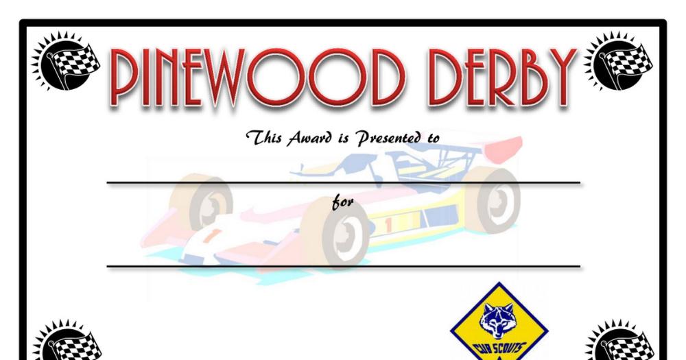 Pin Di Certificate Template in Best Pinewood Derby Certificate Template