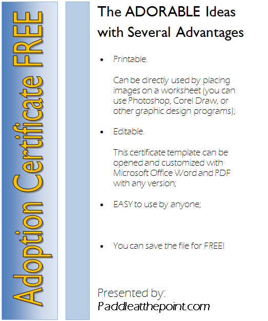 Pin On Adoption Certificate Free Ideas in Unicorn Adoption Certificate Templates