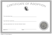 Pin On Adoption Certificate Free Ideas with regard to Dog Adoption Certificate Free Printable 7 Ideas