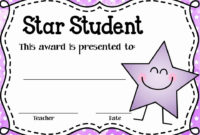 Pin On Certificate Customizable Design Templates pertaining to Quality Star Student Certificate Template
