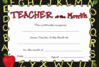 Pin On Certificate Customizable Design Templates regarding Teacher Of The Month Certificate Template