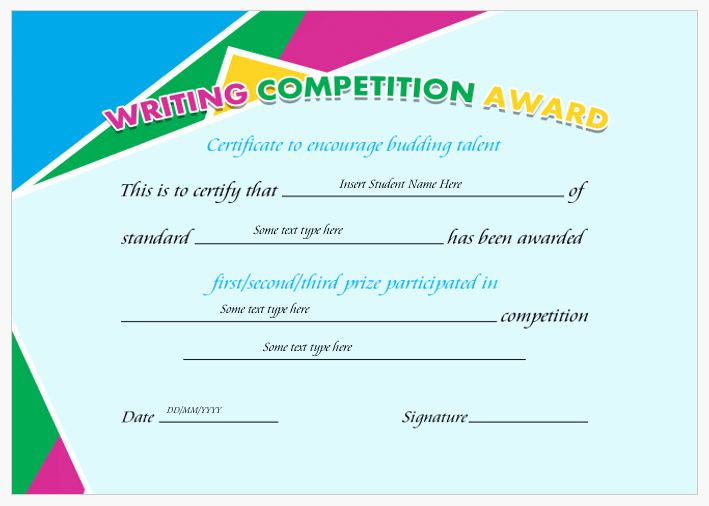 Pin On Certificate Customizable Design Templates with regard to Best Handwriting Award Certificate Printable