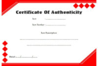 Pin On Certificate Of Authenticity Free Template intended for Quality Certificate Of Authenticity Free Template