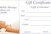 Pin On Certificate Templates for Massage Gift Certificate Template Free Printable