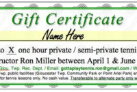 Pin On Certificate Templates intended for Quality Tennis Gift Certificate Template