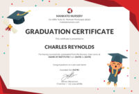 Pin On Certificate Templates pertaining to Quality 5Th Grade Graduation Certificate Template
