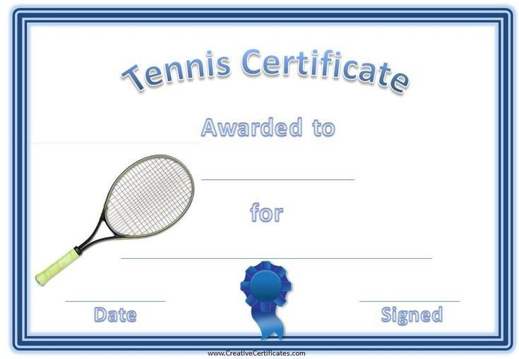 Pin On Certificate Templates pertaining to Quality Tennis Gift Certificate Template
