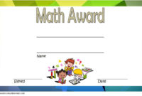 Pin On Decoration throughout Math Certificate Template 7 Excellence Award