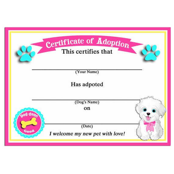Pin On Dog Treats regarding Dog Birth Certificate Template Editable