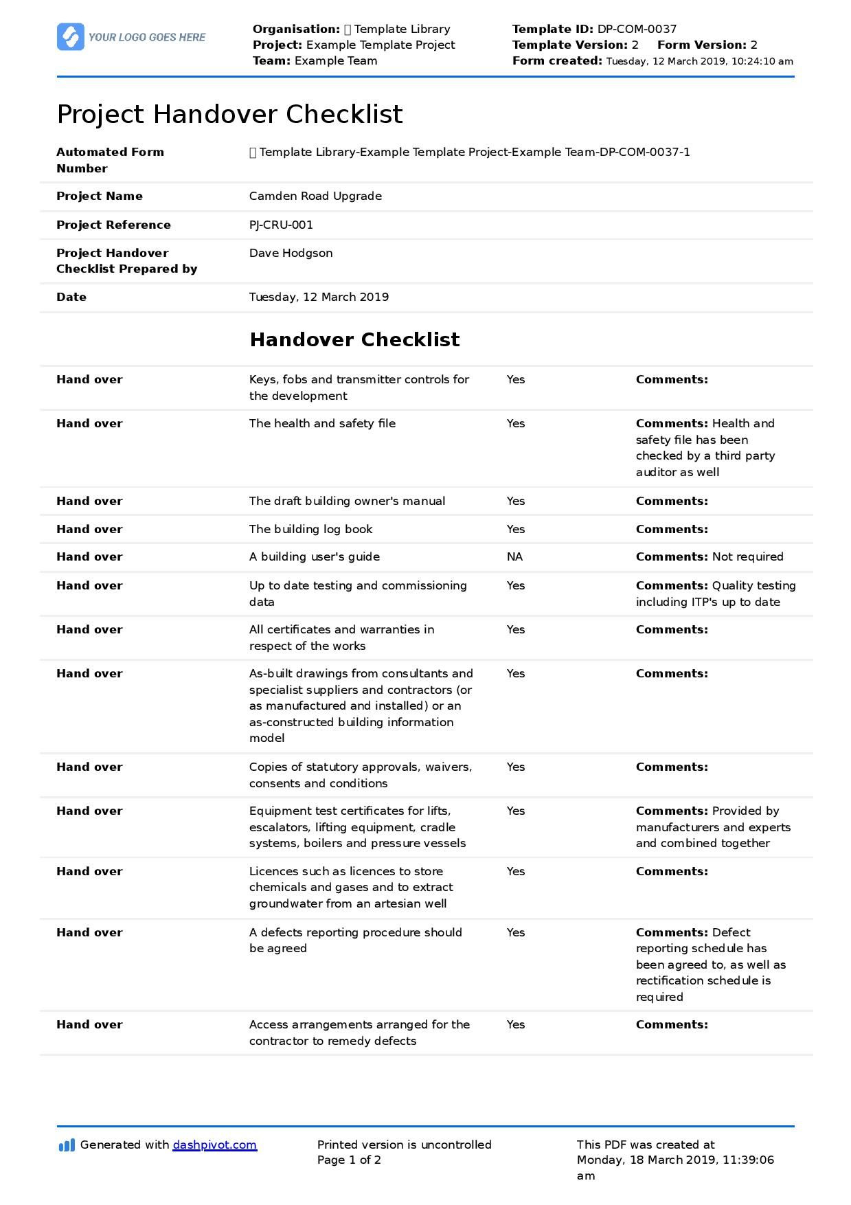 Pin On The Best Business Templates within Quality Handover Certificate Template