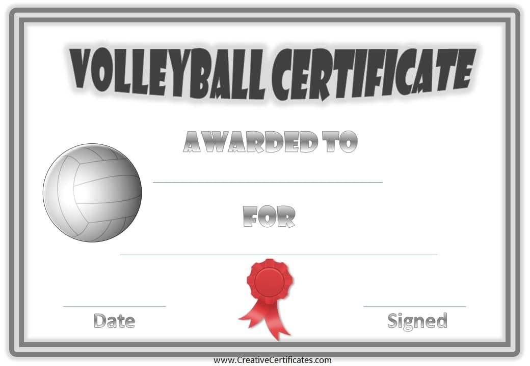 Pincoral Berta On All Things Volleyball  Volleyball intended for Volleyball Certificate Template Free