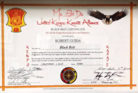 Pindouglas E Hamilton On Martial Art Certificate for Martial Arts Certificate Templates