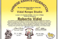 Pindouglas E Hamilton On Martial Art Certificate with regard to Awesome Martial Arts Certificate Templates
