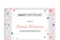 Pinmuse Printables On Award Certificate Templates inside Free Art Award Certificate Template