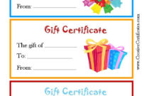Pinshelly Hecht On Gift Ideas  Free Printable Gift throughout Free Kindness Certificate Template 7 New Ideas Free