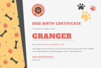 Pinyinelis Vega On Blw Darío  Birth Certificate intended for Best Puppy Birth Certificate Template