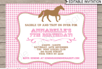 Pony Party Invitations  Horse Party  Birthday Party intended for Zoo Gift Certificate Templates Free Download