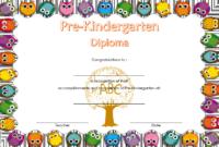 Pre K Diploma Certificate Editable  10 Great Templates throughout Pre Kindergarten Diplomas Templates Printable Free