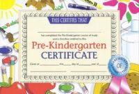 """Prekindergarten Certificate  Va499 Pack Of 30 85"""" X within Best Certificate For Pre K Graduation Template"""