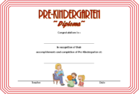Prekindergarten Diploma Template Free 5 inside Free Pre K Diploma Certificate Editable Templates