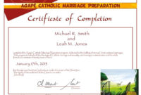 Premarital Counseling Certificate Of Completion Template pertaining to Marriage Counseling Certificate Template