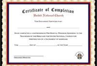 Premarital Counseling Certificate Of Completion Template with Marriage Counseling Certificate Template