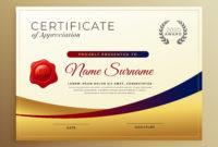 Premium Golden Certificate Of Appreciation Template regarding Amazing Certificates Of Appreciation Template