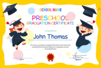 Preschool Certificate Templates Pdf Free Premium Templates regarding Printable Kindergarten Graduation Certificate Printable