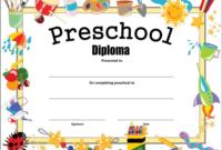 Preschool Diploma Certificate How To Make A Preschool for Certificate For Pre K Graduation Template